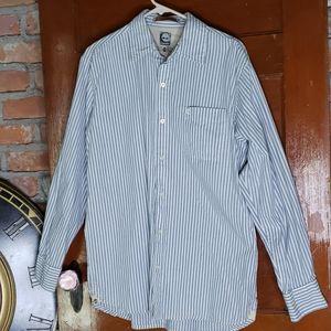 Timberland Button Up Cotton Shirt Size Medium